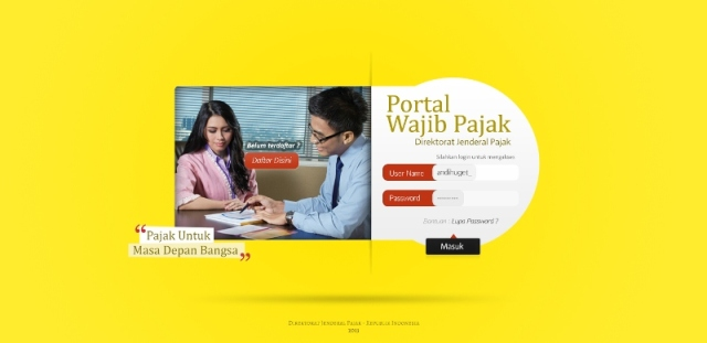 Desain login WP2