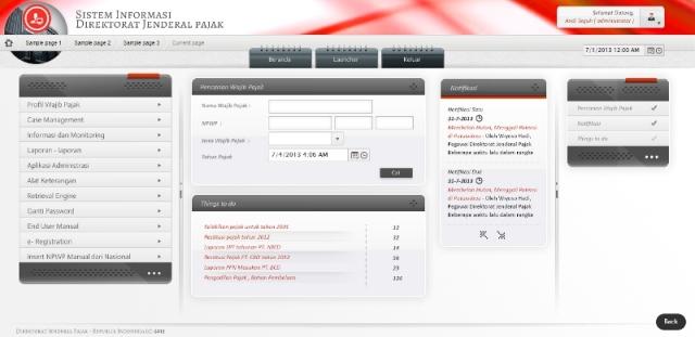 Desain Workspace Portal DJP